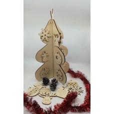 Brăduţ Crăciun lemn