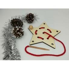 Decoraţiuni Crăciun - Să ȋnvăţam să coasem -steluta